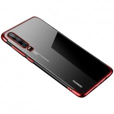 Clear Color Case Gel TPU Electroplating frame Cover for Huawei P Smart Pro / Huawei Y9s red (HWPSMT)