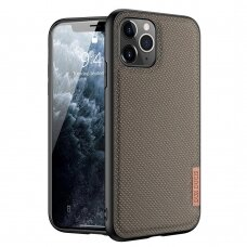 Dux Ducis Fino case covered with nylon material for iPhone 11 Pro Max green