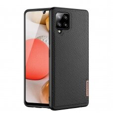 Dux Ducis Fino case covered with nylon material for Samsung Galaxy A42 5G black