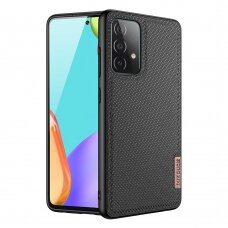 Dux Ducis Fino case covered with nylon material for Samsung Galaxy A72 4G black