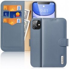 Dux Ducis Hivo Genuine Leather Bookcase type case for iPhone 11 blue