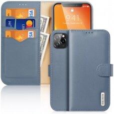 Dux Ducis Hivo Genuine Leather Bookcase type case for iPhone 11 Pro Max blue