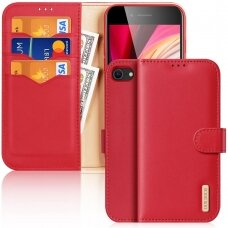 Dux Ducis Hivo Genuine Leather Bookcase type case for iPhone SE 2020 / iPhone 8 / iPhone 7 red