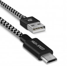Dux Ducis K-ONE Series USB / micro USB Cable 2.1A 2M black (HUTL) (hutl)