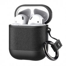 Dux Ducis PU leather case for Apple AirPods 2 / AirPods 1 Earphones black (APAIR) (APAIR)