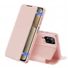DUX DUCIS Skin X Bookcase type case for Samsung Galaxy A12 / Galaxy M12 pink