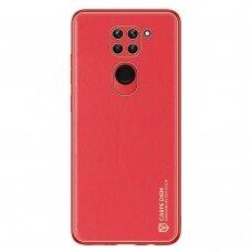 Dux Ducis Yolo elegant case made of soft TPU and PU leather for Xiaomi Redmi 10X 4G / Xiaomi Redmi Note 9 red