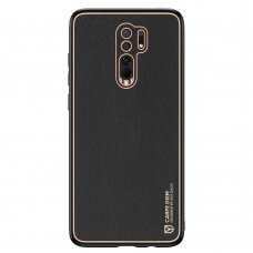 Dux Ducis Yolo elegant case made of soft TPU and PU leather for Xiaomi Redmi 9 black