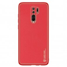 Dux Ducis Yolo elegant case made of soft TPU and PU leather for Xiaomi Redmi 9 red