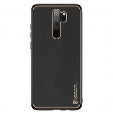 Dux Ducis Yolo elegant case made of soft TPU and PU leather for Xiaomi Redmi Note 8 Pro black