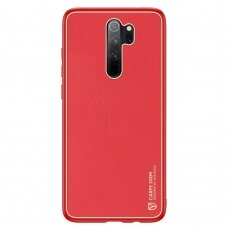 Dux Ducis Yolo elegant case made of soft TPU and PU leather for Xiaomi Redmi Note 8 Pro red