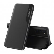 Eco Leather View Case elegant bookcase type case with kickstand for Samsung Galaxy M51 black