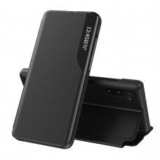 Eco Leather View Case elegant bookcase type case with kickstand for Samsung Galaxy Note 10 black