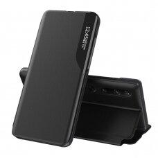Eco Leather View Case elegant bookcase type case with kickstand for Xiaomi Mi 10 Pro / Xiaomi Mi 10 black