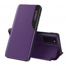 Eco Leather View Case elegant bookcase type case with kickstand for Xiaomi Poco M3 / Xiaomi Redmi 9T purple