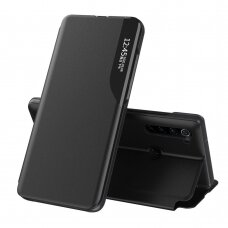 Eco Leather View Case elegant bookcase type case with kickstand for Xiaomi Redmi Note 8T black