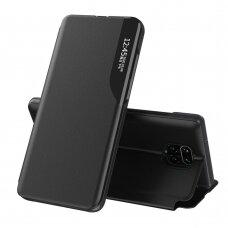 Eco Leather View Case elegant bookcase type case with kickstand for Xiaomi Redmi Note 9 Pro / Redmi Note 9S black