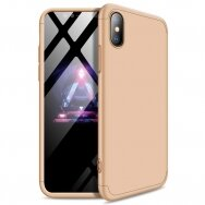GKK 360 Protection Case Front and Back Case Full Body Cover iPhone XS Max golden (lxe17) (IPXSMAX)