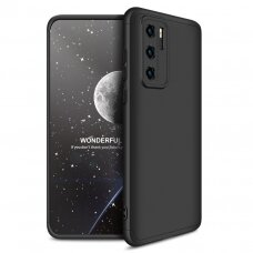 GKK 360 Protection Case Front and Back Case Full Body Cover Huawei P40 black