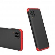 GKK 360 Protection Case Front and Back Case Full Body Cover Huawei P40 Lite / Nova 7i / Nova 6 SE black-red