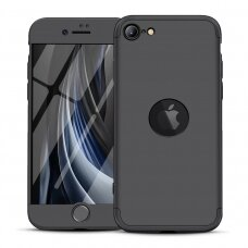 GKK 360 Protection Case Front and Back Case Full Body Cover iPhone SE 2020 black