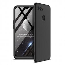 GKK 360 Protection Case Front and Back Case Full Body Cover Oppo A12 / A5s / A7 black