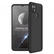 GKK 360 Protection Case Front and Back Case Full Body Cover Oppo A15 black
