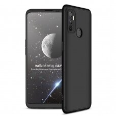 GKK 360 Protection Case Front and Back Case Full Body Cover Oppo A53 black