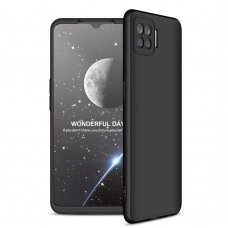 GKK 360 Protection Case Front and Back Case Full Body Cover Oppo A73 black