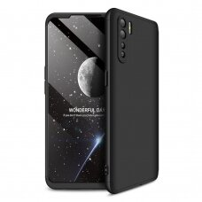 GKK 360 Protection Case Front and Back Case Full Body Cover Oppo Reno3 / A91 / F15 black