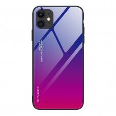 Gradient Glass Durable Cover with Tempered Glass Back iPhone 12 Pro / iPhone 12 pink-purple