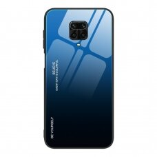 Gradient Glass Durable Cover with Tempered Glass Back Xiaomi Redmi Note 9 Pro / Redmi Note 9S black-blue