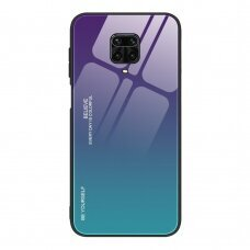 Gradient Glass Durable Cover with Tempered Glass Back Xiaomi Redmi Note 9 Pro / Redmi Note 9S green-purple