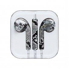 Headphones with microphone iPhone iPad iPod snake green (HUTL) (hutl)