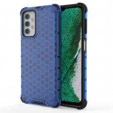 Honeycomb Case armor cover with TPU Bumper for Samsung Galaxy A32 5G blue