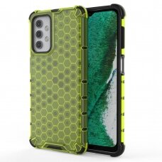 Honeycomb Case armor cover with TPU Bumper for Samsung Galaxy A32 5G green
