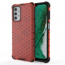 Honeycomb Case armor cover with TPU Bumper for Samsung Galaxy A32 5G red