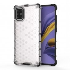 Honeycomb Case armor cover with TPU Bumper for Samsung Galaxy S20 transparent
