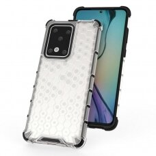 Honeycomb Case armor cover with TPU Bumper for Samsung Galaxy S20 Ultra transparent