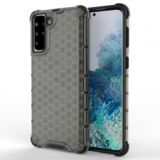 Honeycomb Case armor cover with TPU Bumper for Samsung Galaxy S21+ 5G (S21 Plus 5G) black