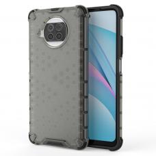Honeycomb Case armor cover with TPU Bumper for Xiaomi Mi 10T Lite black