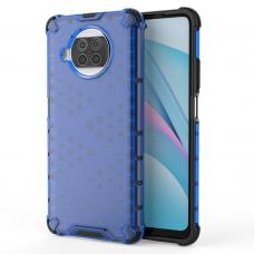Honeycomb Case armor cover with TPU Bumper for Xiaomi Mi 10T Lite blue