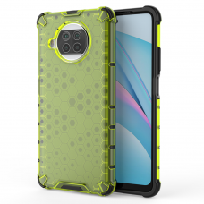 Honeycomb Case armor cover with TPU Bumper for Xiaomi Mi 10T Lite green