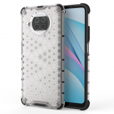 Honeycomb Case armor cover with TPU Bumper for Xiaomi Mi 10T Lite transparent