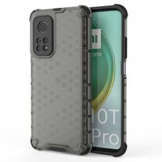 Honeycomb Case armor cover with TPU Bumper for Xiaomi Mi 10T Pro / Mi 10T black