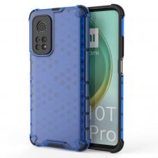 Honeycomb Case armor cover with TPU Bumper for Xiaomi Mi 10T Pro / Xiaomi Mi 10T blue