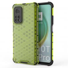 Honeycomb Case armor cover with TPU Bumper for Xiaomi Mi 10T Pro / Xiaomi Mi 10T green