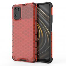 Honeycomb Case armor cover with TPU Bumper for Xiaomi Poco M3 / Xiaomi Redmi 9T red