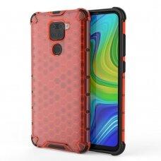 Honeycomb Case armor cover with TPU Bumper for Xiaomi Redmi 10X 4G / Xiaomi Redmi Note 9 red