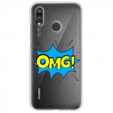 """Huawei P Smart 2019 Unique Silicone Case 1.0 mm """"u-case Airskin OMG design"""""""